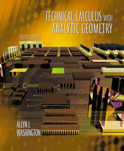 9780201711127: Technical Calculus with Analytic Geometry (4th Edition)