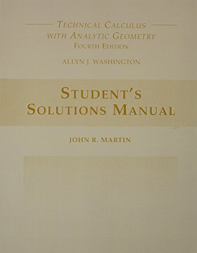 9780201711172: Student's Solutions Manual