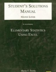 9780201711387: Student's Solutions Manual to accompany Elementary Statistics Using Excel