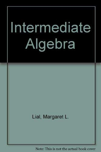 9780201719208: Intermediate Algebra