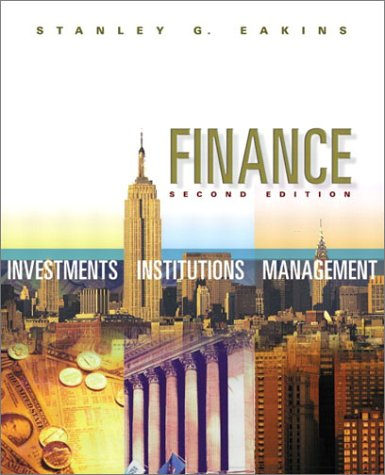 9780201721669: Finance: Investments, Institutions, and Management (2nd Edition)