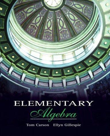 9780201729610: Elementary Algebra