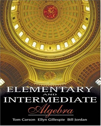 9780201729627: Elementary and Intermediate Algebra