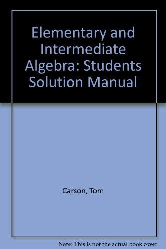 9780201729764: Elementary & Intermediate Algebra