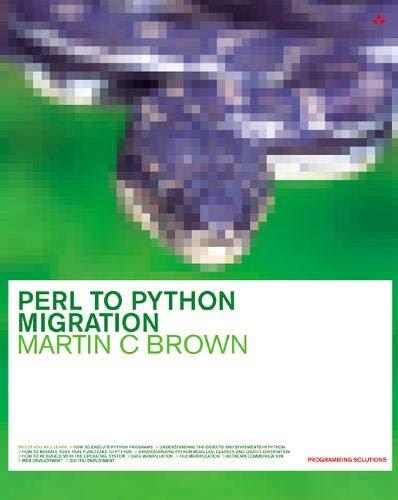 9780201734881: Perl to Python Migration