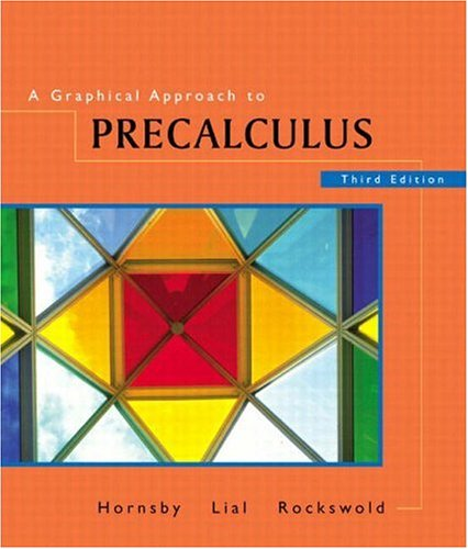 9780201735116: A Graphical Approach to Precalculus, Third Edition