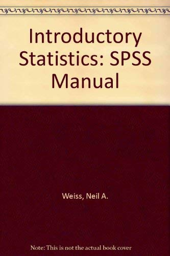 9780201737134: Introductory Statistics: SPSS Manual