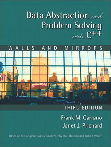 9780201741193: Data Abstraction and Problem Solving with C++: Walls and Mirrors