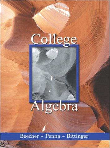 9780201741407: College Algebra