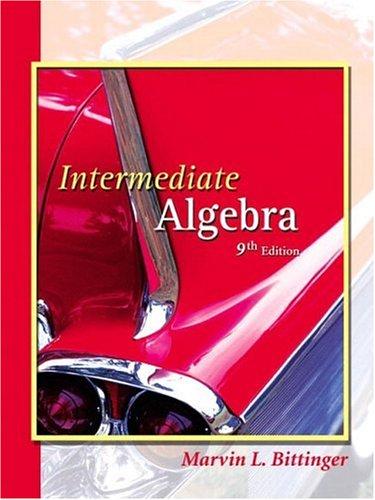 9780201746327: Intermediate Algebra, Ninth Edition