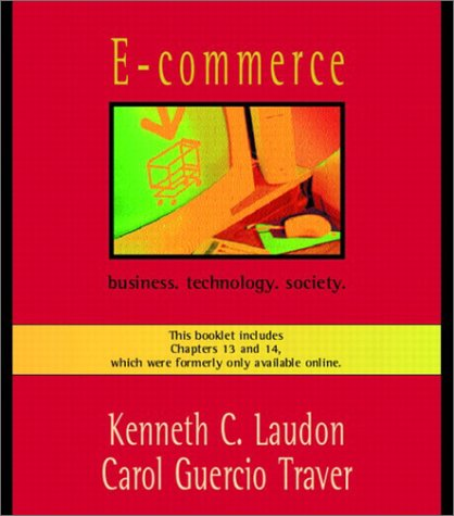 9780201748154: E-Commerce: Business, Technology, Society