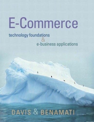 9780201748406: E-Commerce Basics: Technology Foundations and E-Business Applications