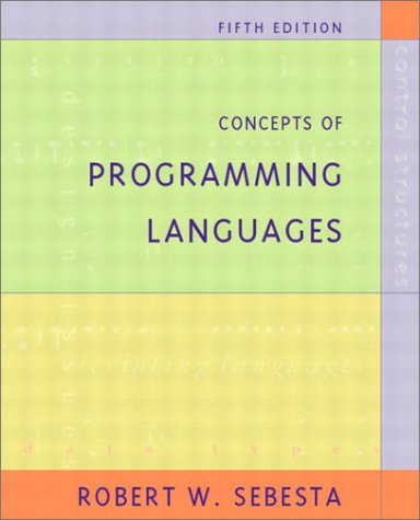 9780201752953: Concepts of Programming Languages (5th Edition)
