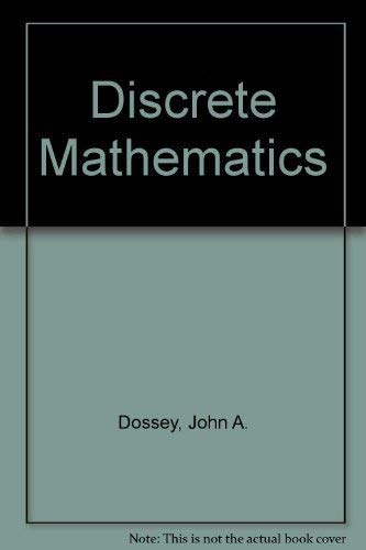 9780201754834: Student Solutions Manual for Discrete Mathematics, Fourth Edition