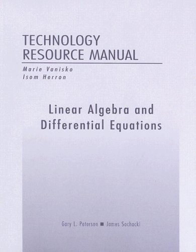 9780201758153: Linear Algebra and Differential Equations Technology Resource Manual