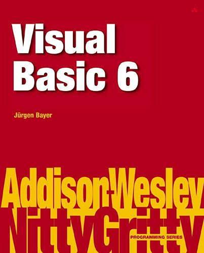 9780201758764: Nitty Gritty Visual Basic 6
