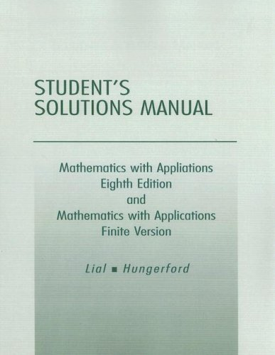 9780201770100: Student Solutions Manual for Mathematics with Applications