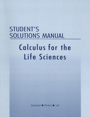 9780201770162: Student Solutions Manual for Calculus with Applications for the Life Sciences