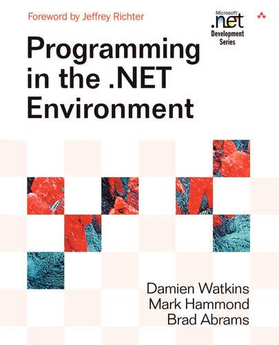 9780201770186: Programming in the .NET Environment