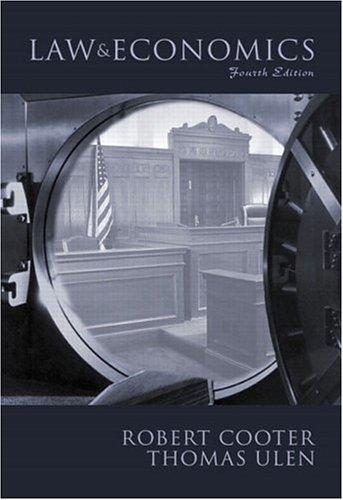 9780201770254: Law and Economics (4th Edition)