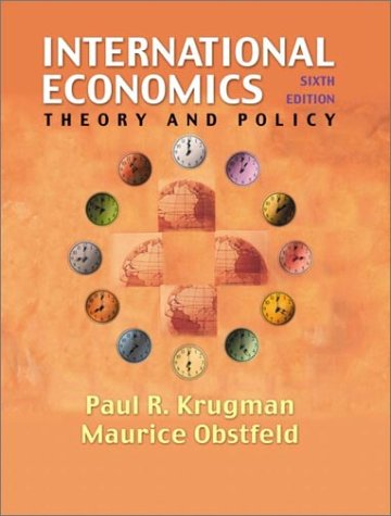 9780201770377: International Economics: Theory and Policy (Addison-Wesley Series in Economics)