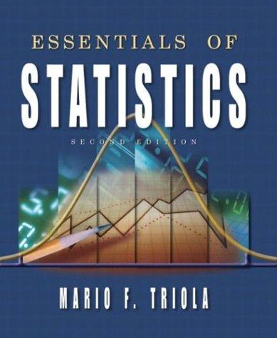 9780201771299: Essentials of Statistics (2nd Edition)