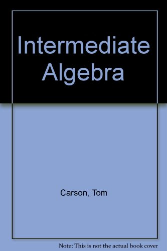9780201771589: Intermediate Algebra