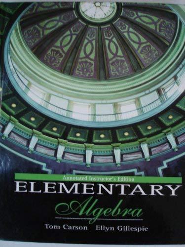 9780201771633: Elementary Algebra