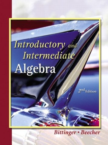 9780201773415: Introductory and Intermediate Algebra: A Combined Approach, Second Edition