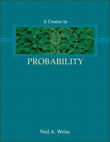 9780201774719: A Course in Probability