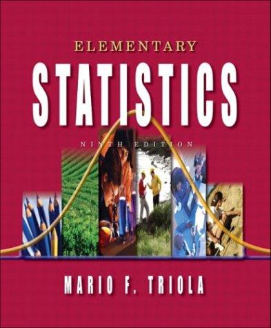 9780201775709: Elementary Statistics, Ninth Edition