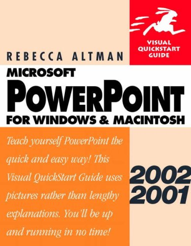 9780201775853: Microsoft Powerpoint 2002/2001 for Windows and Macintosh: Visual Quickstart Guide