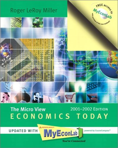 9780201786170: Economics Today: The Micro View, 2001-2002 MyEconLab Edition (11th Edition)