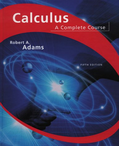 9780201791310: Calculus: A Complete Course (5th Edition)
