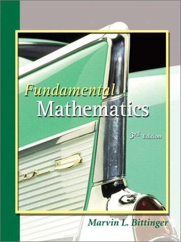 9780201792508: Fundamental Mathematics (3rd Edition)