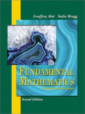 9780201796223: Fundamental Mathematics through Applications (2nd Edition)