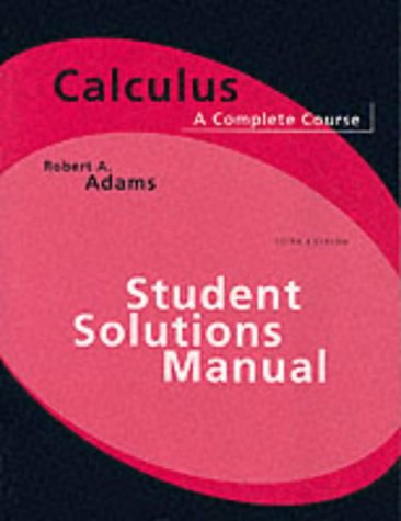 9780201798036: Calculus: Students Solutions Manual: A Complete Course