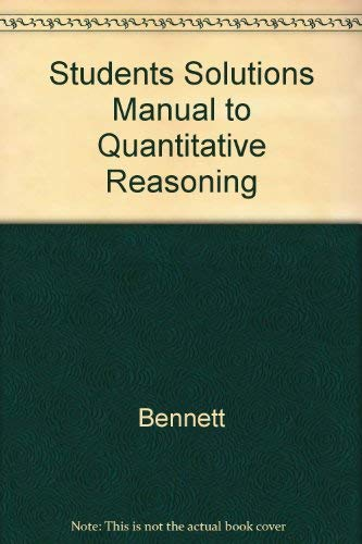 9780201809589: Students Solutions Manual to Quantitative Reasoning