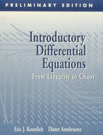 9780201824759: Introductory Differential Equations: From Linearity to Chaos