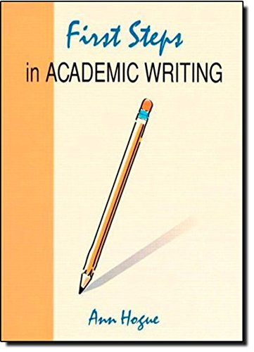 9780201834109: First Steps in Academic Writing (Longman Academic Writing Series)