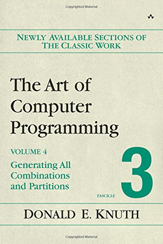 9780201853940: The Art of Computer Programming, Volume 4, Fascicle 3: Generating All Combinations and Partitions