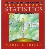 9780201859218: Elementary Statistics (Annotated Instructor's Edition)