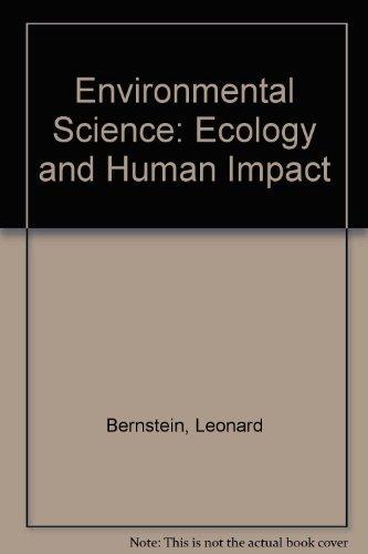 9780201863413: Environmental Science: Ecology and Human Impact
