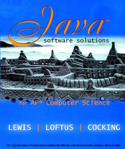 9780201882599: Java Software Solutions for Ap Computer Science