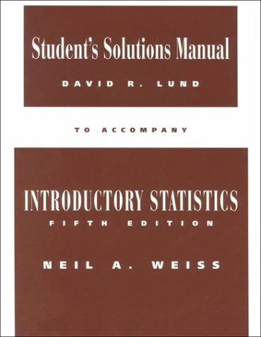 9780201883220: Student Solutions Manual to Accompany Introductory Statistics