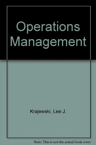 9780201889505: Operations Management
