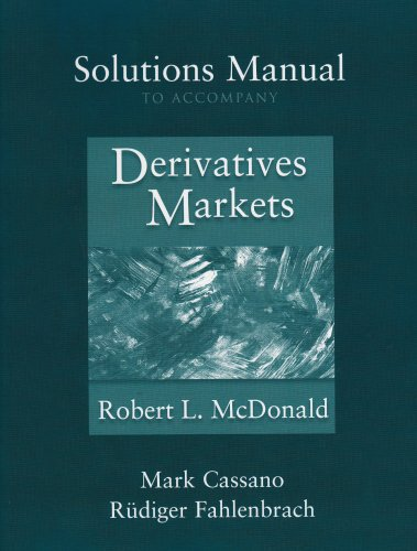 9780201892789: Solutions Manual to accompany Derivatives Markets