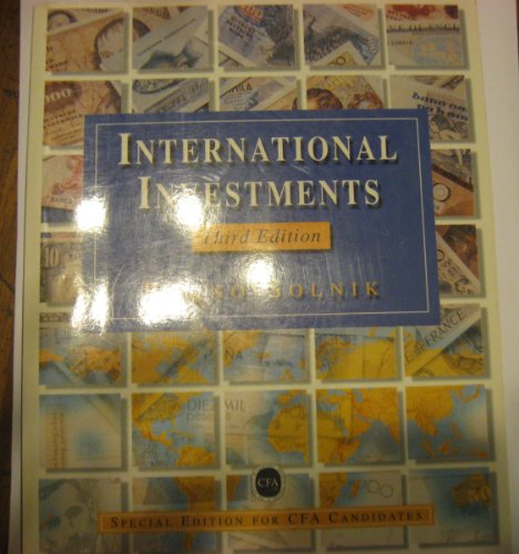 9780201895018: International Investments