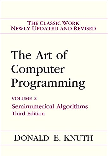 9780201896848: Art of Computer Programming, Volume 2: Seminumerical Algorithms (3rd Edition)