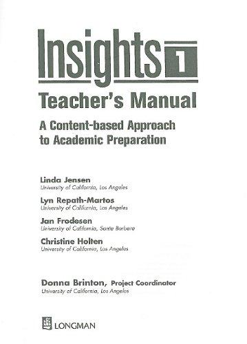 Insights: Linda Jensen,Lyn Repath-Martos,Jan Frodesen